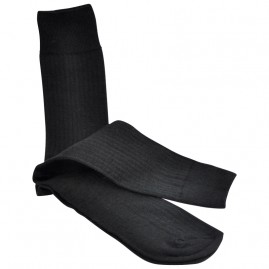 Black mohair business socks