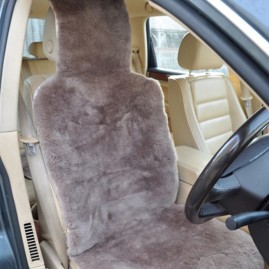 Sheep Skin Car Seat Cover in Mink