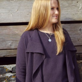 Cashmere waterfall cardigan