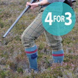 special offer on patterned top shooting socks
