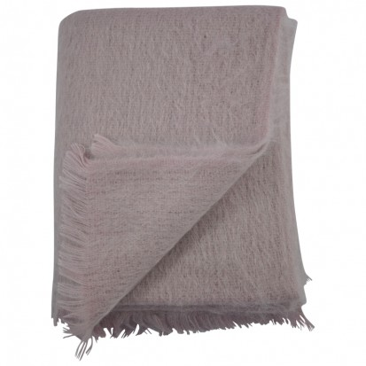 Dusty Pink Mohair Throws