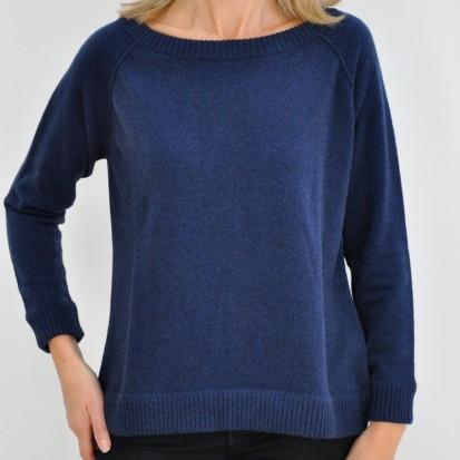 Inkwell Boxy Round Neck ladies cashmere sweater