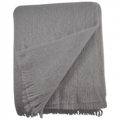 Slate Grey Mohair Throws