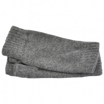 Cashmere Wristwarmers in Mid Grey