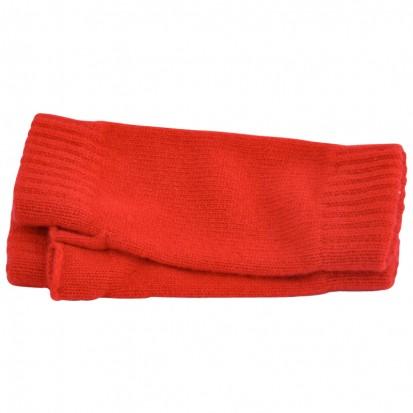 Cashmere Wristwarmers in Regal Red