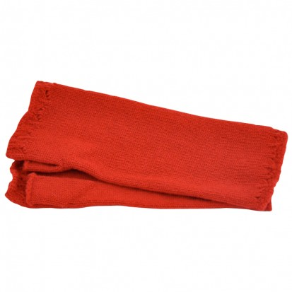 Cashmere Wristwarmers in Ruby Red