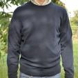 Mens Cashmere Crew Neck Sweater in Dark Navy