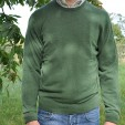 Mens Cashmere Crew Neck Sweater in Kelp