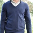 Cashmere VNeck Sweater Dark Navy