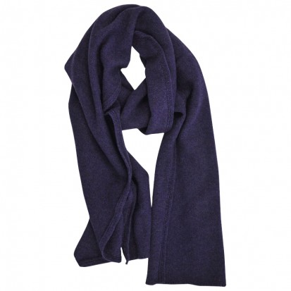 Cashmere gauzy scarf purple melange