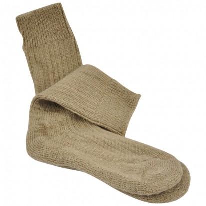 Childrens Cushion Soled Biege Mohair Socks