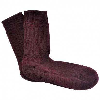 Childrens Cushion Soled Bordeaux Mohair Socks