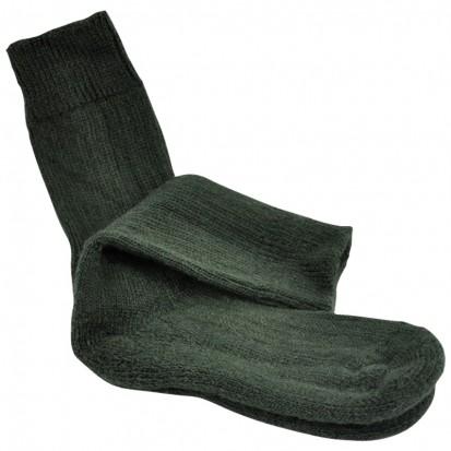 Childrens Cushion Soled Green Mohair Socks