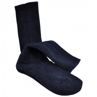 Childrens Cushion Soled Navy Mohair Socks