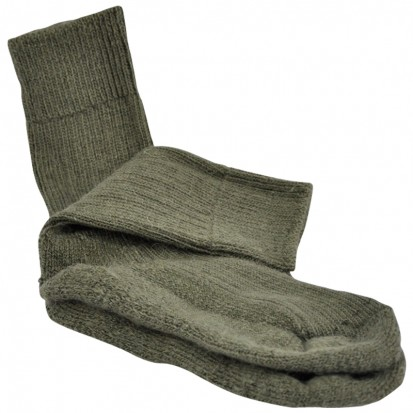 Childrens Cushion Soled Olive Mohair Socks