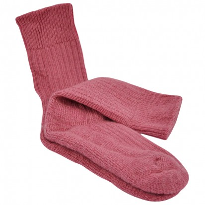 Childrens Cushion Soled Rhubarb Mohair Socks