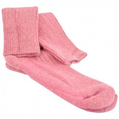 Cushion Soled Rhubarb Mohair Socks