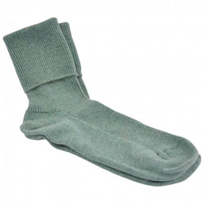 Ladies Cashmere Socks Green Mix