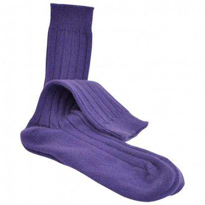 Mens Cashmere Socks in African Violet