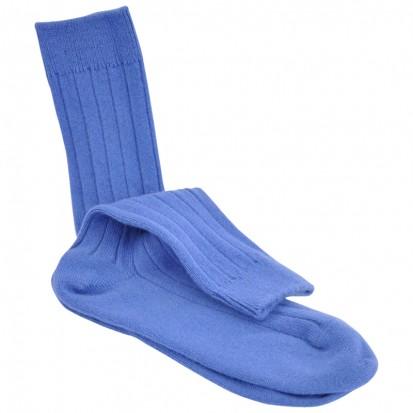 Mens Cashmere Socks in Cornflower