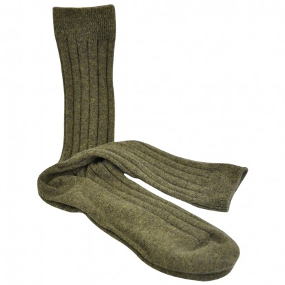 Mens Cashmere Socks in Moss
