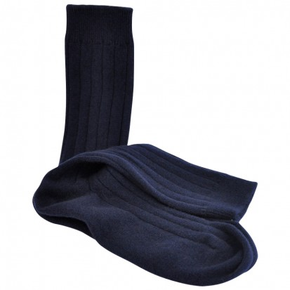 Mens Cashmere Socks in Navy