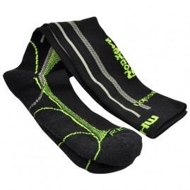 Mohair Technical Compression Socks in Black and Lime