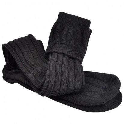 Mohair Tech Kilt Socks Black