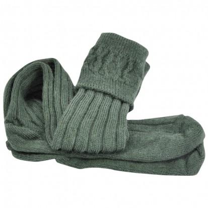 Mohair Tech Kilt Socks Dark Green