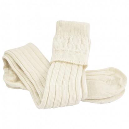 Mohair Tech Kilt Socks Natural