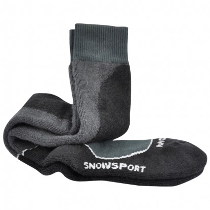 MohairTech Snowsport Socks Black and Charcoal