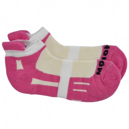 Mohair Technical Sports Golf Socks in Cerise and White