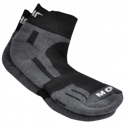 Mohair Technical Sports Golf Socks Charcoal and Black