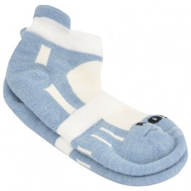Mohair Technical Sports Golf Socks Light Blue and White