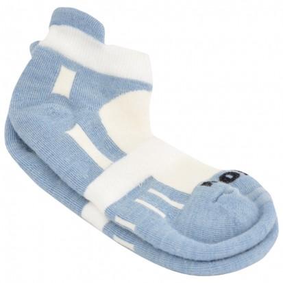 Mohair Technical Sports Golf Socks Light Blue and White