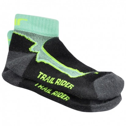 Mohair Technical Trail Rider Socks Black Cabbage