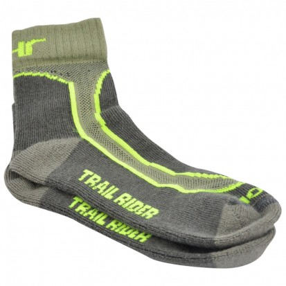 Mohair Technical Trail Rider Socks Olive Grey