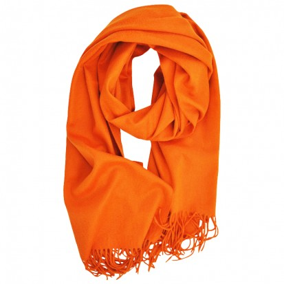 Plain Cashmere Stole Orange