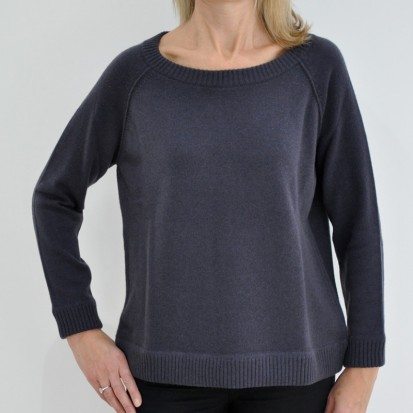 Rothko Boxy Round Neck ladies cashmere jumper