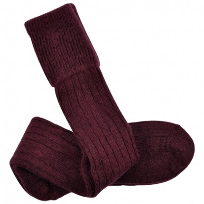 Mohair Shooting Sock Bordeaux