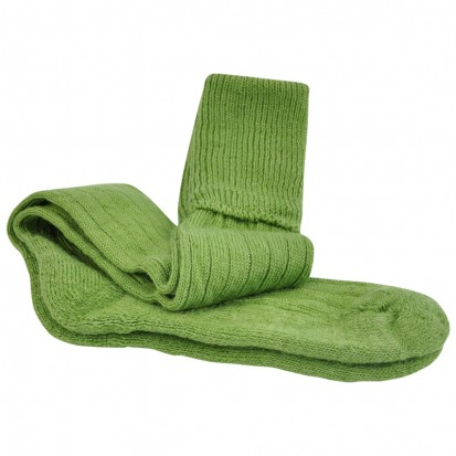 Mohair Shooting Socks Apple Green