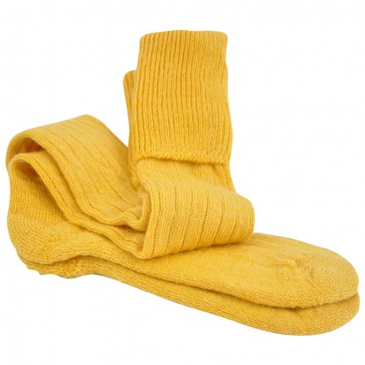 Mohair Shooting Socks Custard