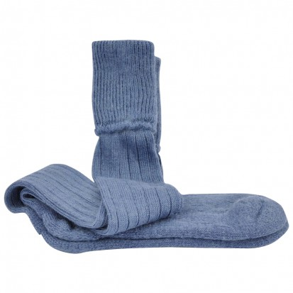 Mohair Shooting Socks Denim