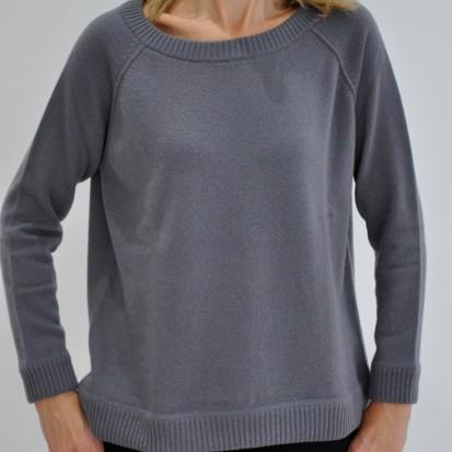 Twilight Boxy Round Neck ladies cashmere jumper