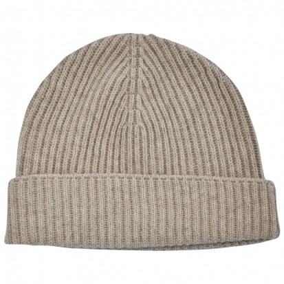unisex cashmere rib hat dark med dyed