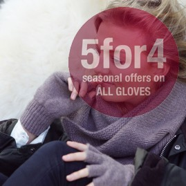 Fngerless cashmere gloves