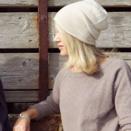 Jersey cashmere hat