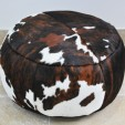 Cowhide Poof Tricolour