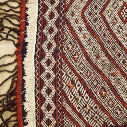 Mid Atlas antique Kilim rug (Runner) BeniMguild Tribe (580 x 93cm) £1,850 + VAT (no8)_swatch