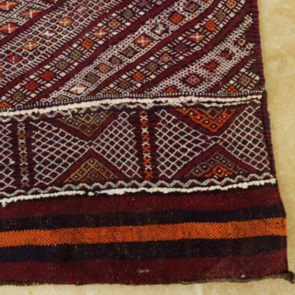 Mid Atlas antique Kilim rug (Runner) BeniMguild Tribe (no16)_swatch